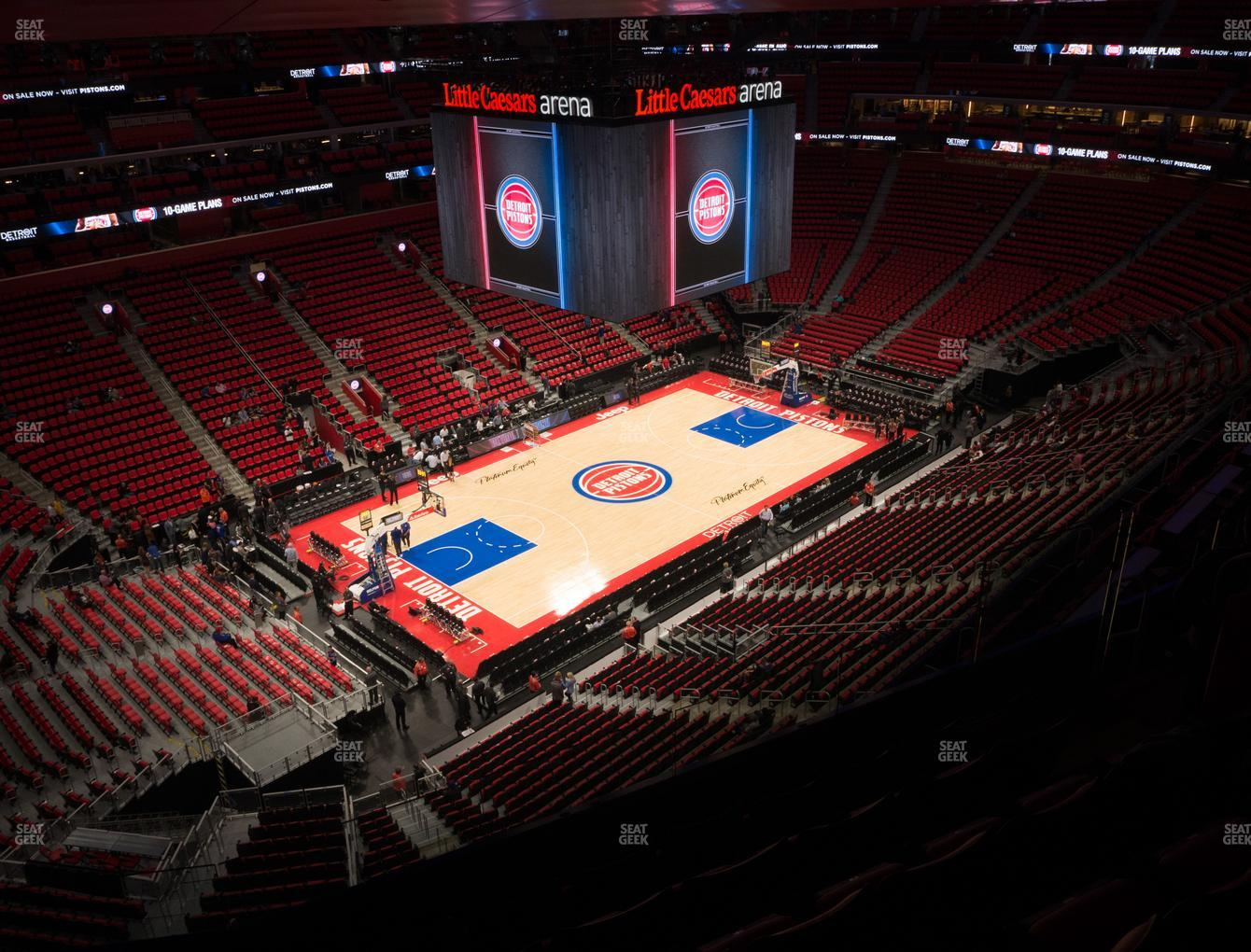 Detroit Pistons at Little Caesars Arena Section 215 View