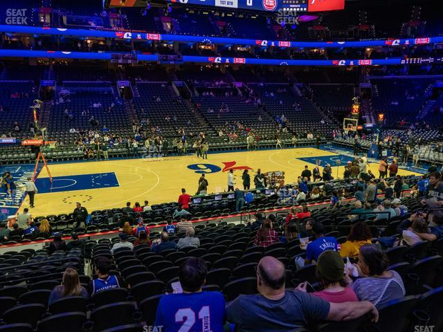 Wells Fargo Center Section 124 view