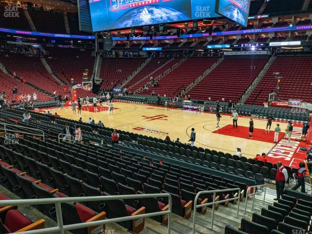 Toyota Center Section 105 view