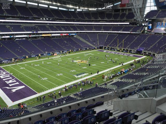U.S. Bank Stadium Section 240 view