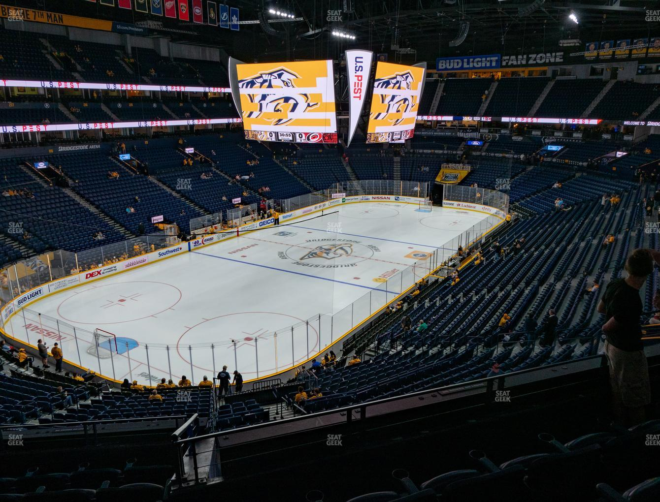 Nashville Predators at Bridgestone Arena Section 204 View