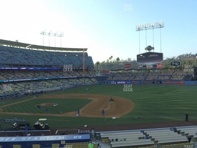 Dodger Stadium Loge Box 138 view