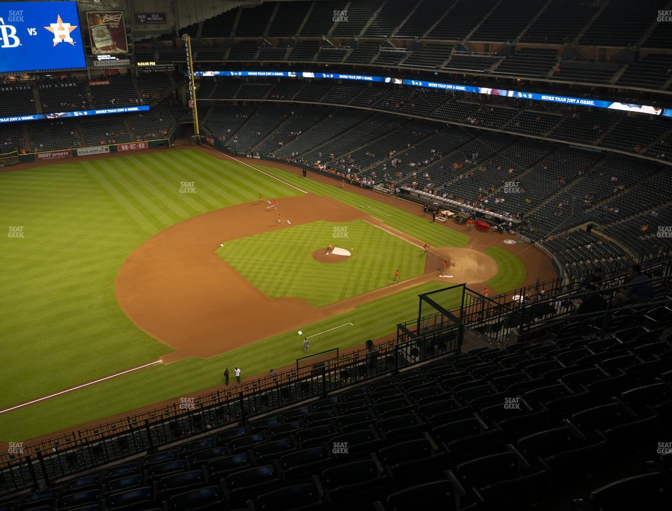 Houston Astros at Minute Maid Park Section 411 View