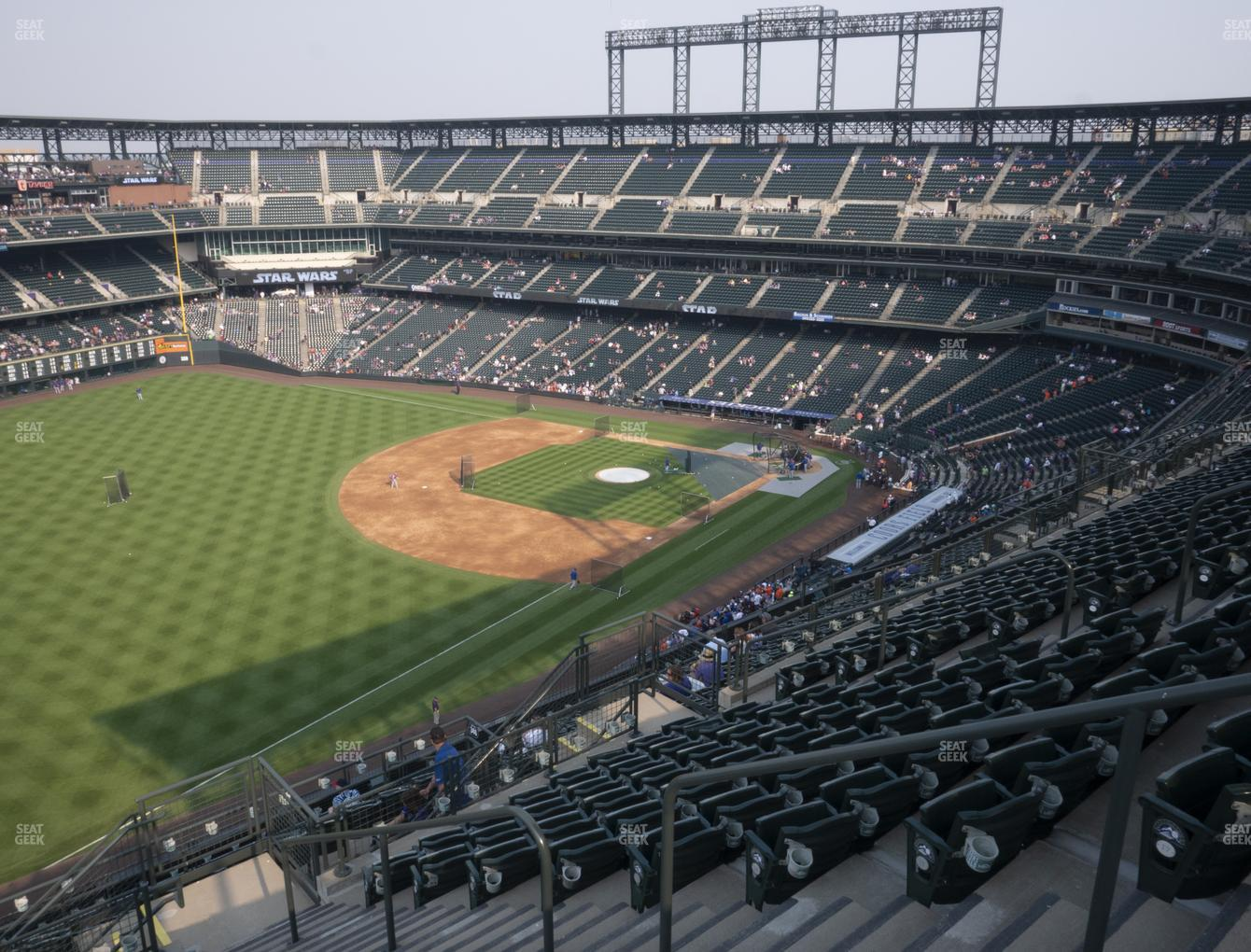 Colorado Rockies at Coors Field Upper 347 View