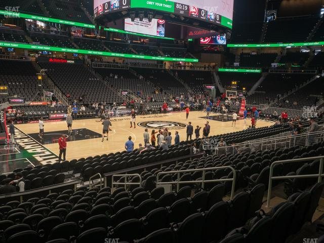 State Farm Arena Section 110 view