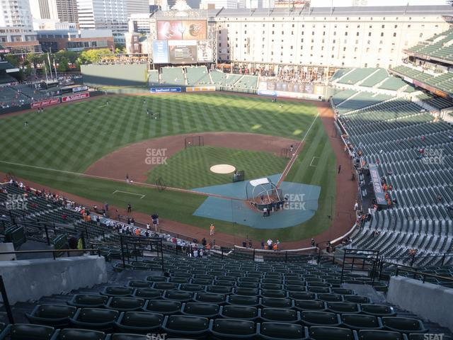 Oriole Park at Camden Yards Section 344 view