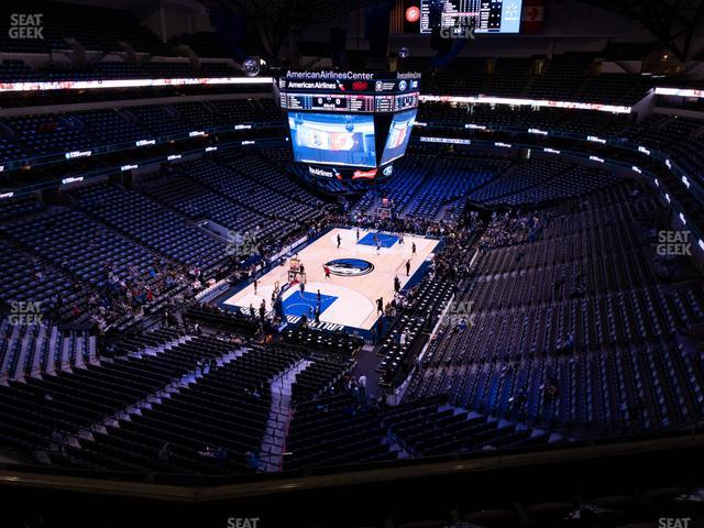 American Airlines Center Section 316 view