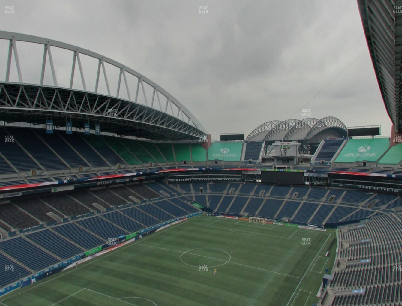 Seattle Sounders FC at CenturyLink Field Upper 344 View