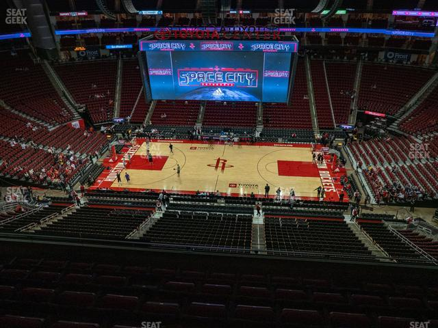 Toyota Center Section 409 view