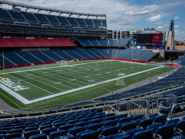 Gillette Stadium Section 215 view