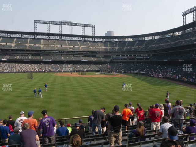 Coors Field Section 154 view