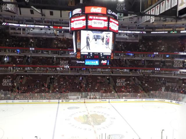 United Center Section 201 view