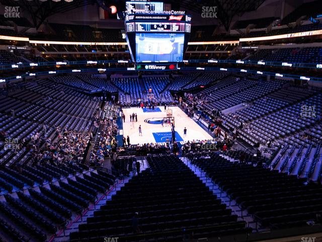 American Airlines Center Section 202 view