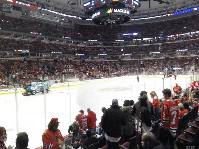 United Center Section 103 view