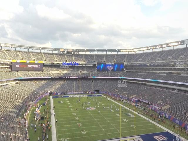 MetLife Stadium Section 203 B view
