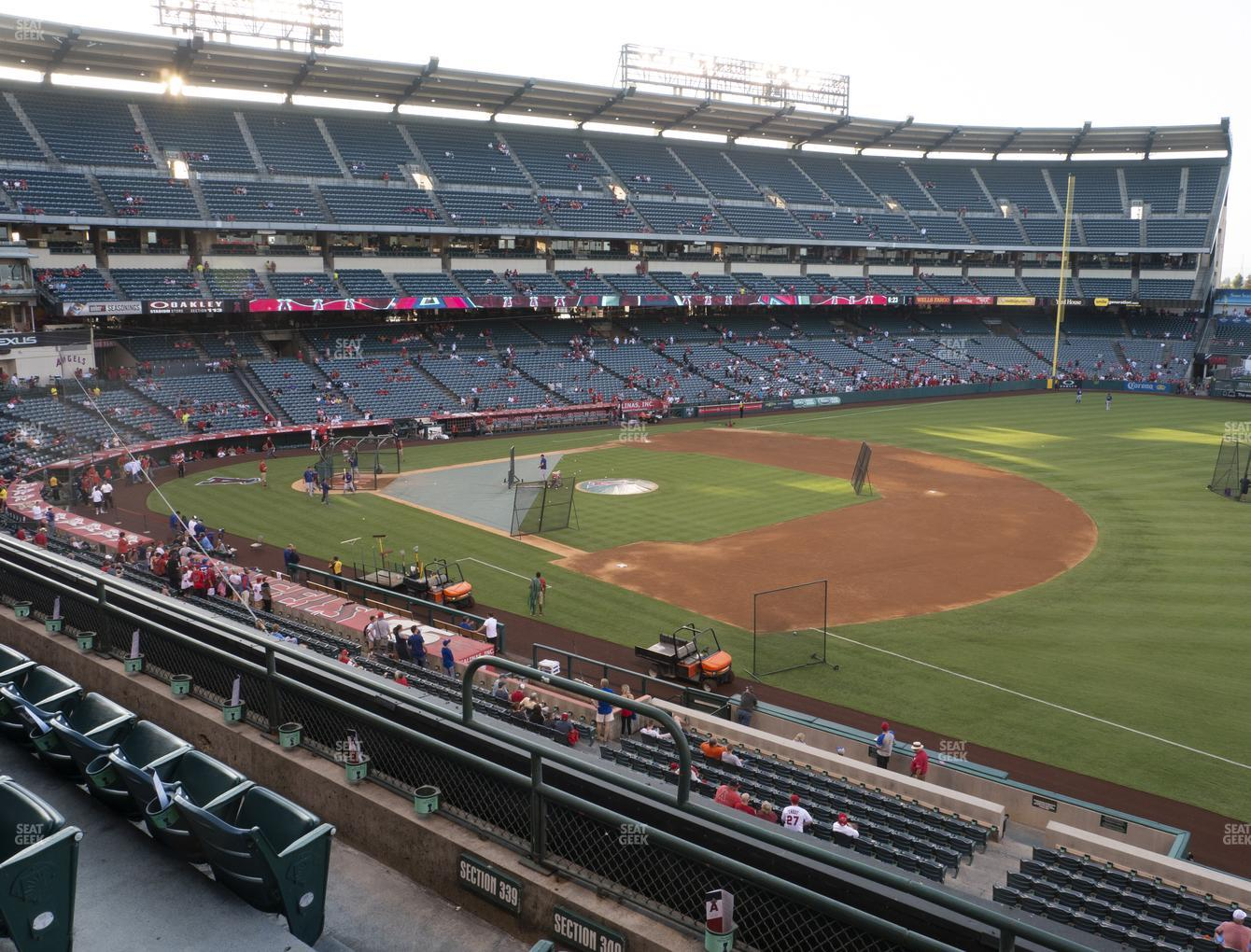 Los Angeles Angels at Angel Stadium of Anaheim Section 340 View