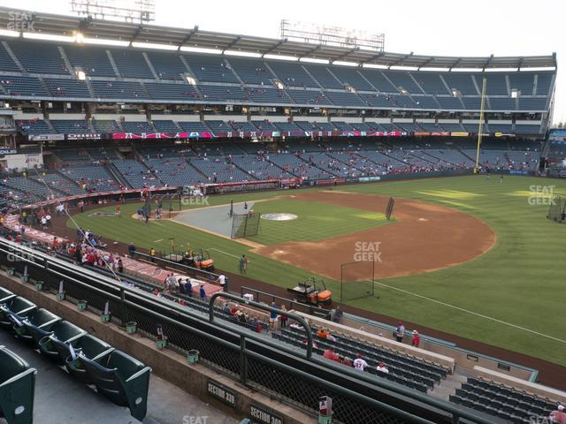 Angel Stadium of Anaheim Section 340 view