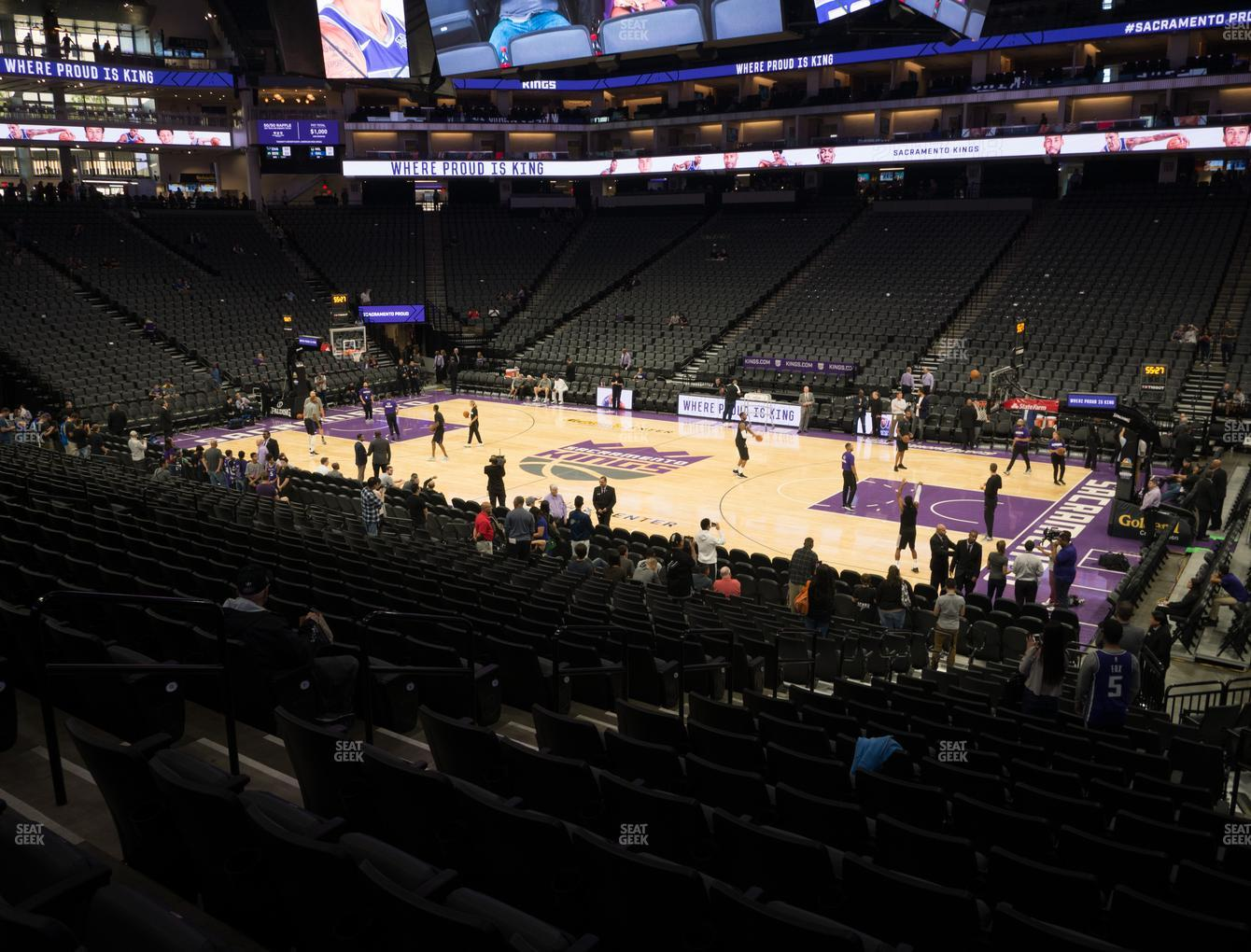 Sacramento Kings at Golden 1 Center Section 118 View
