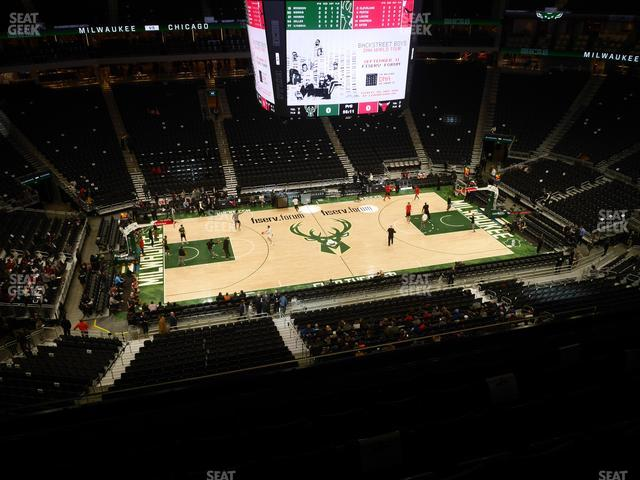 Fiserv Forum Section 209 view