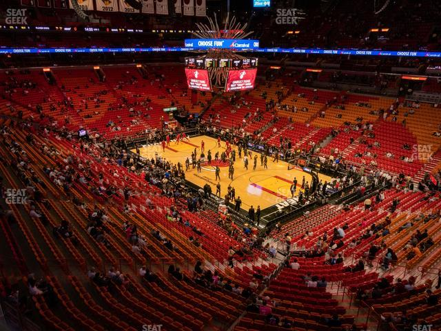 American Airlines Arena Section 304 view
