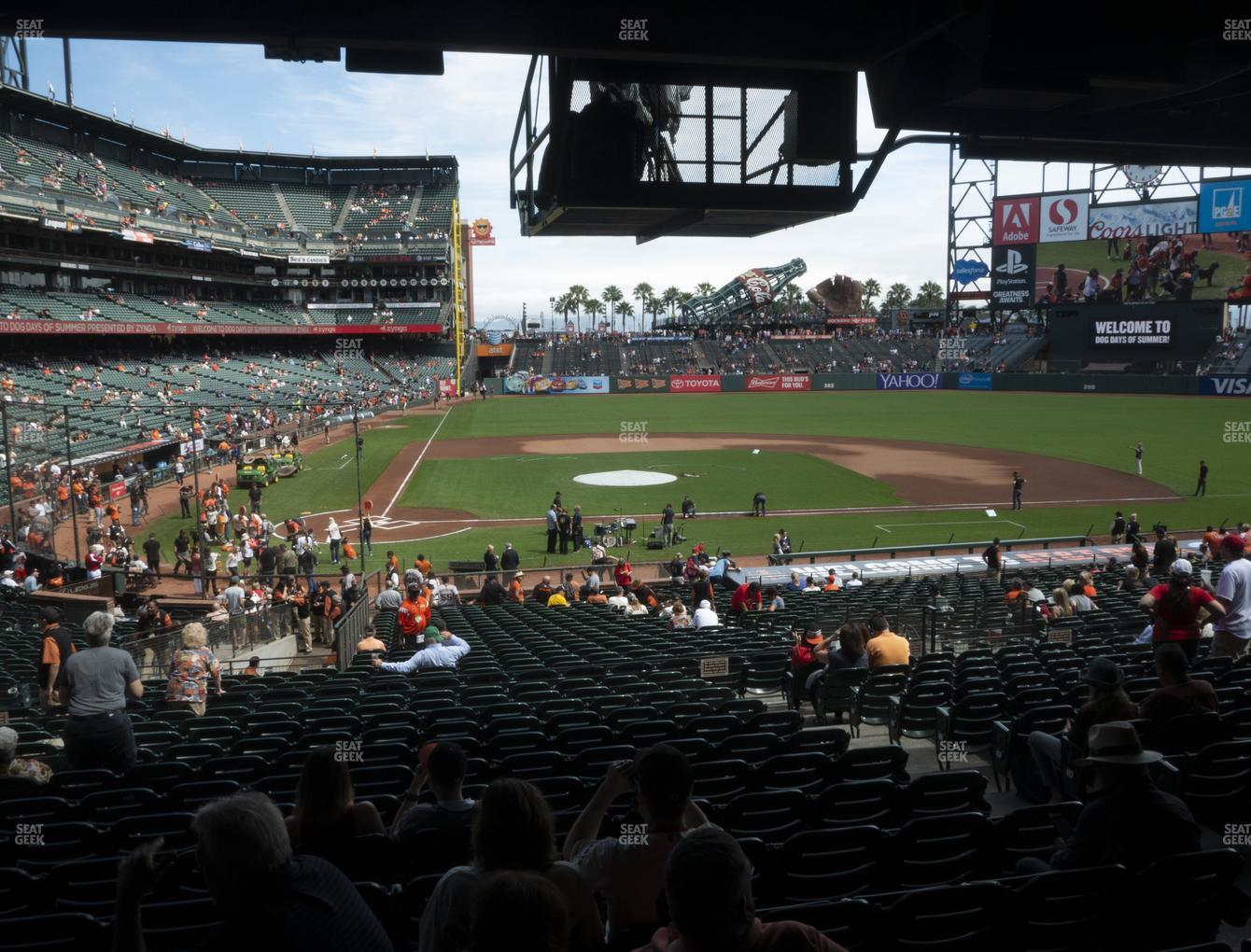 San Francisco Giants at Oracle Park Section 110 View