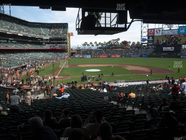 Oracle Park Section 110 view
