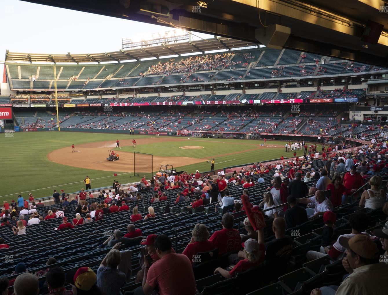 Los Angeles Angels at Angel Stadium of Anaheim Section 208 View