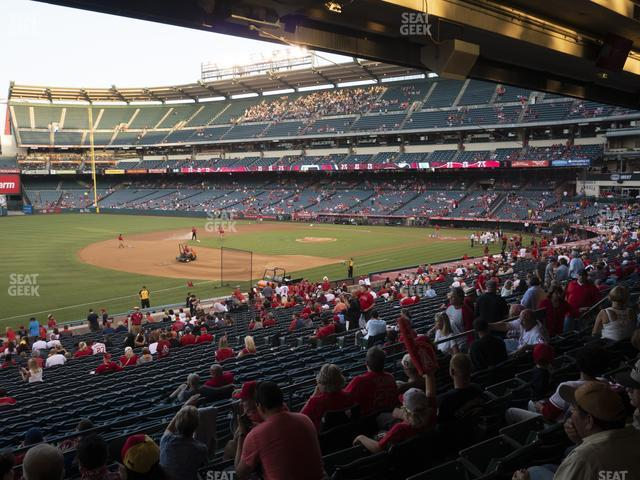 Angel Stadium of Anaheim Section 208 view