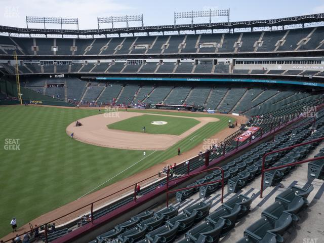 Globe Life Park Section 212 view