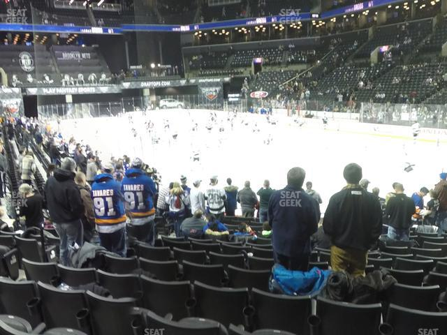 Barclays Center Section 19 view