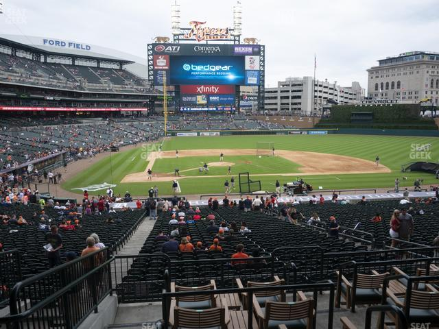 Comerica Park Section 124 view