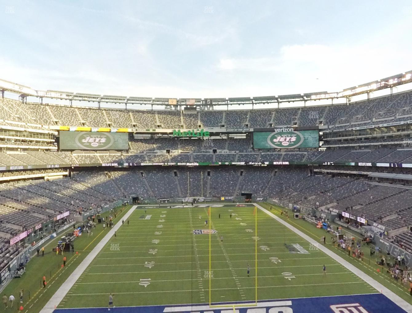 New York Jets at MetLife Stadium Section 202 A View