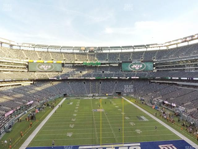 MetLife Stadium Section 202 A view