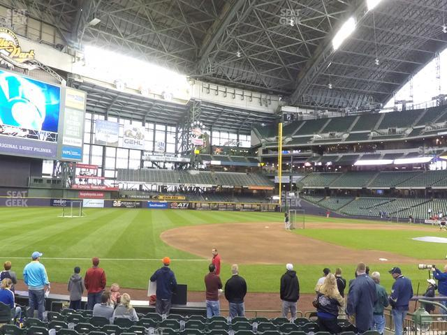 Miller Park Section 124 view