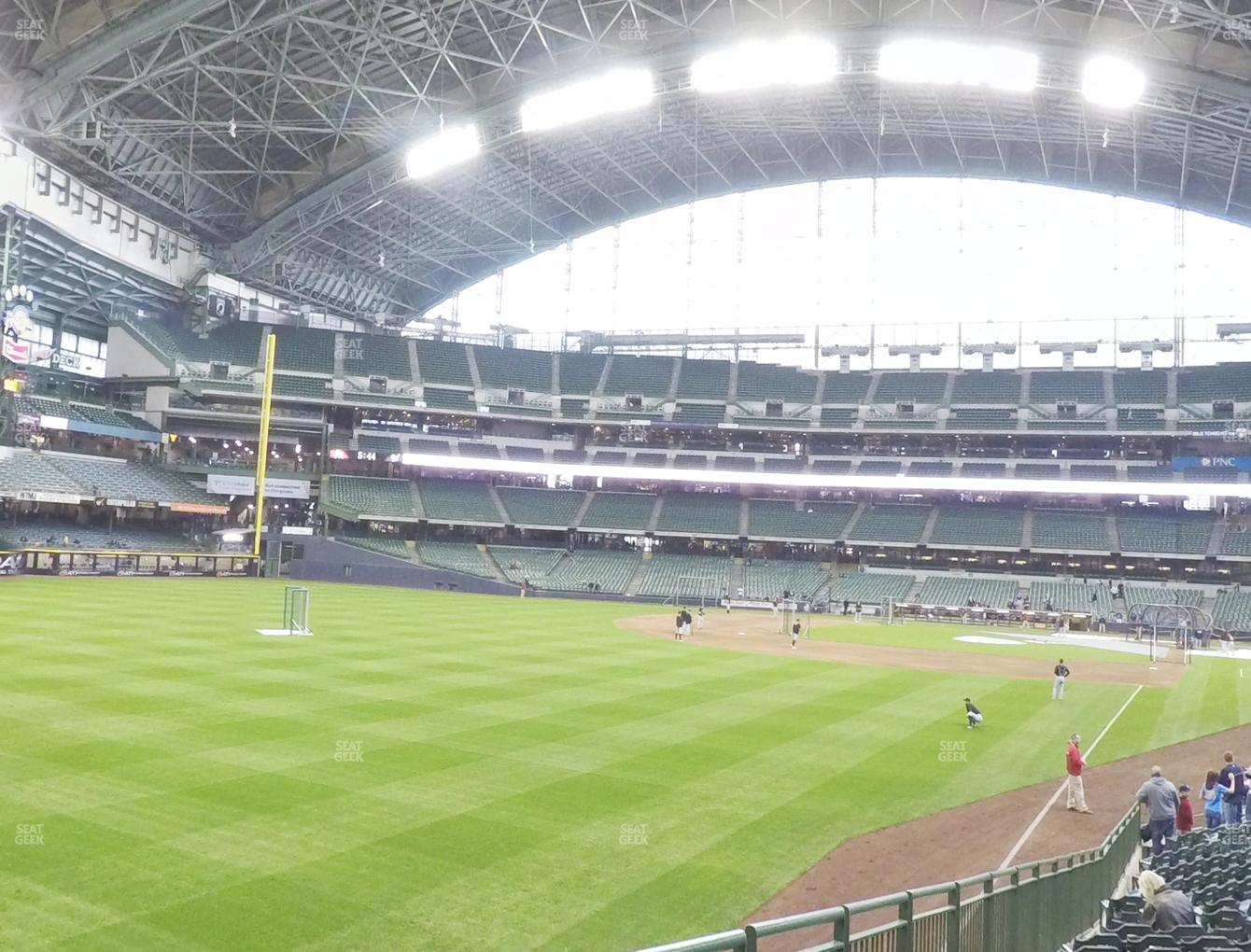 Milwaukee Brewers at Miller Park Section 131 View