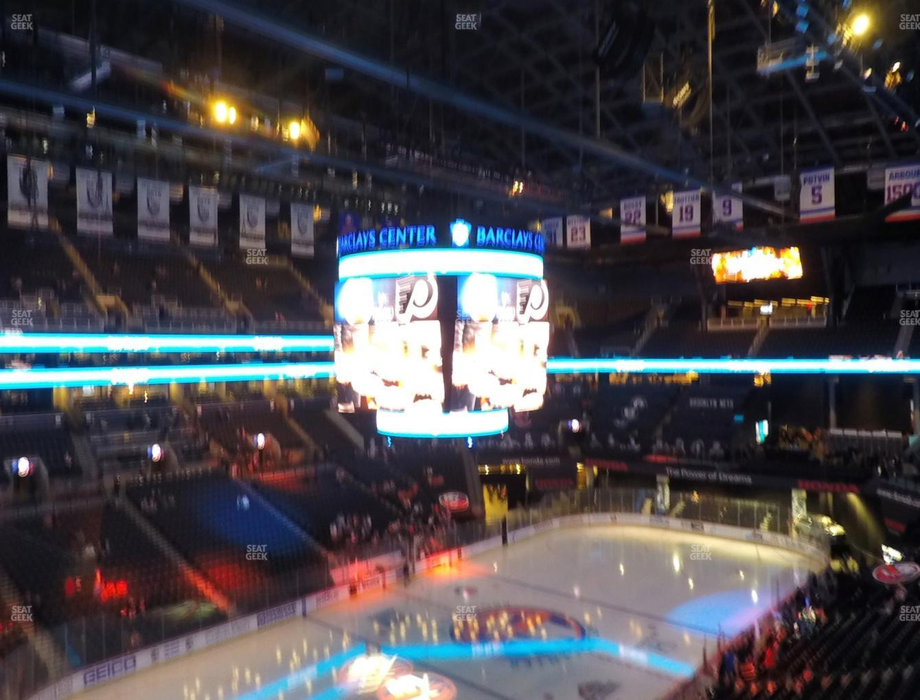 New York Islanders at Barclays Center Section 212 View