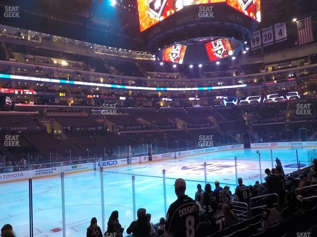 Staples Center Section 104 view