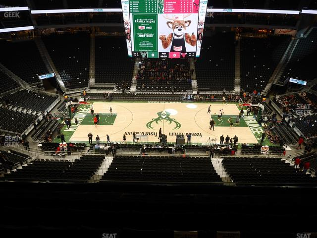 Fiserv Forum Section 222 view