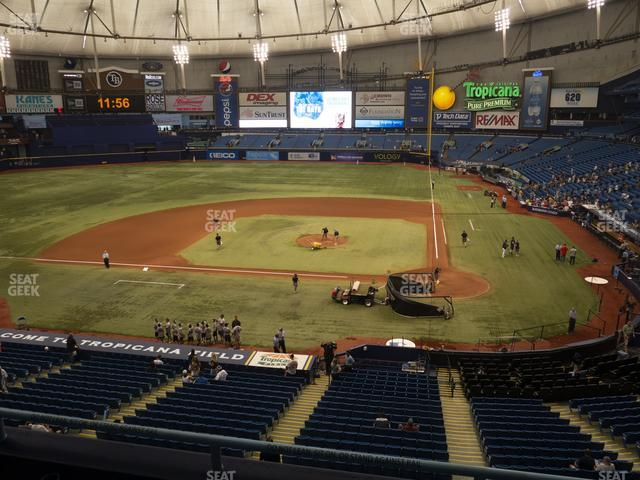 Tropicana Field Section 207 view