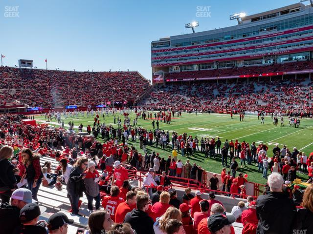 Memorial Stadium Nebraska Section 1 view