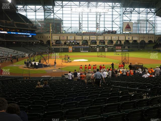 Minute Maid Park Section 124 view