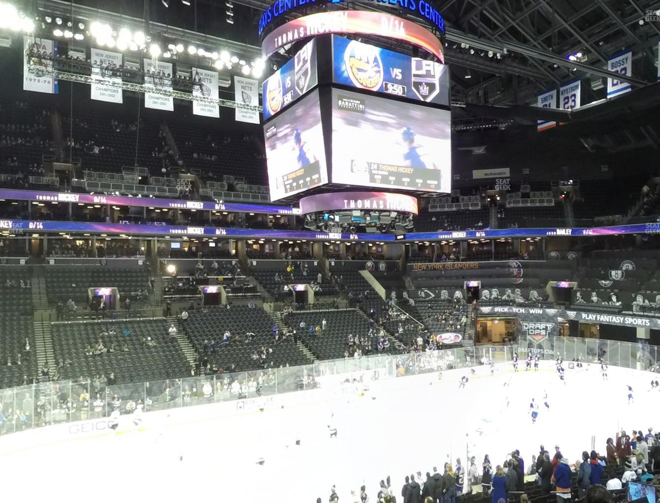 New York Islanders at Barclays Center Section 110 View