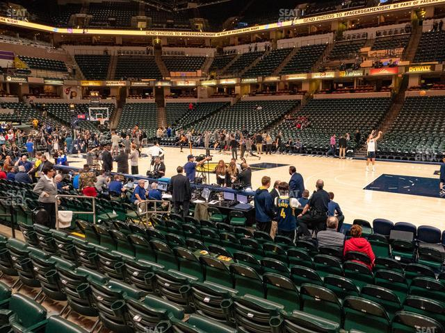 Bankers Life Fieldhouse Section 4 view