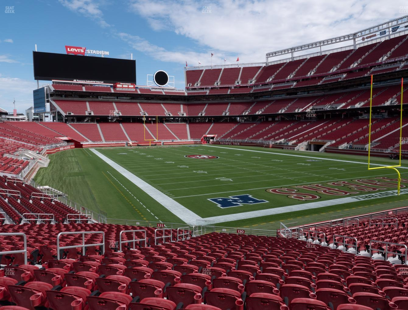 San Francisco 49ers at Levi's Stadium Section 130 View