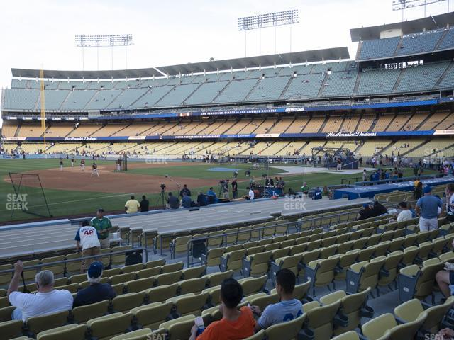 Dodger Stadium Field Box 33 view