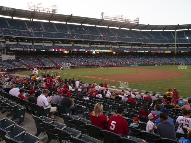 Angel Stadium of Anaheim Section 127 view