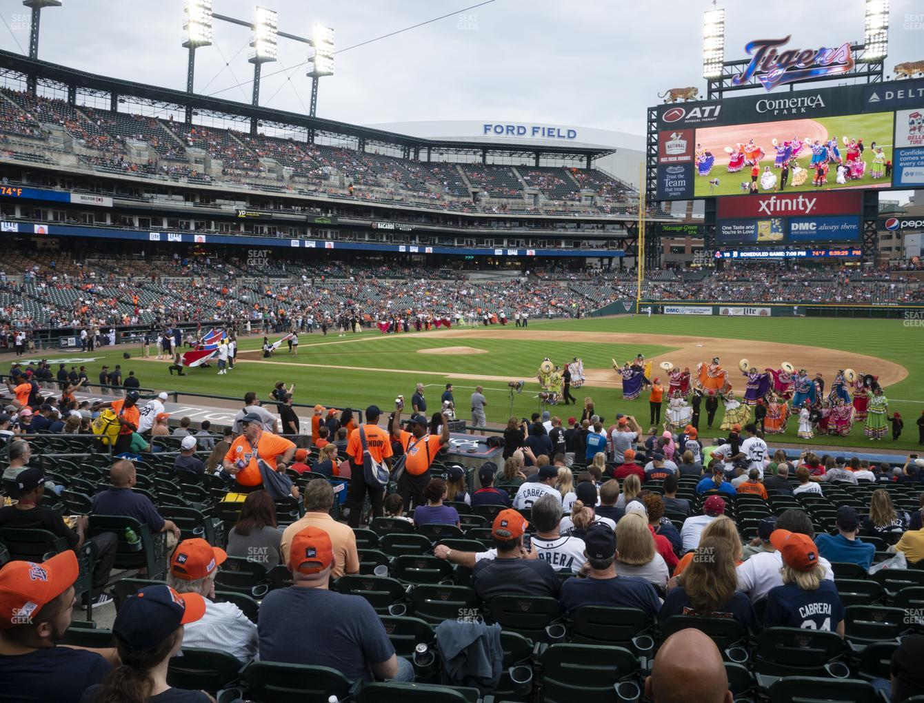 Detroit Tigers at Comerica Park Section 119 View