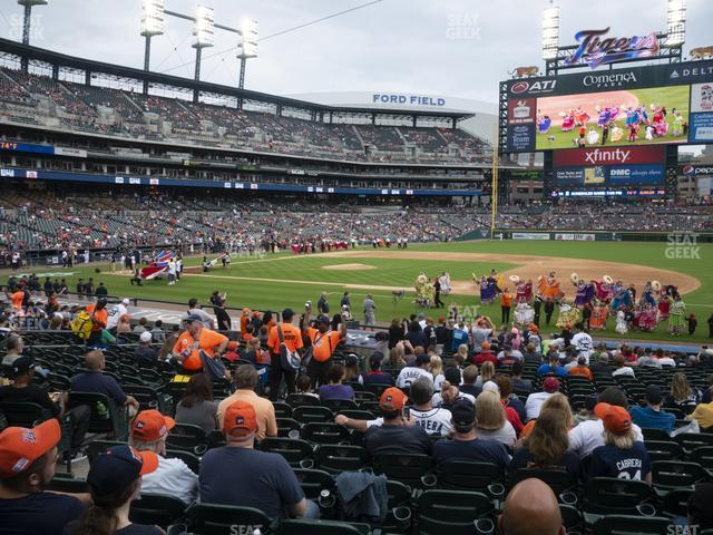 Comerica Park Section 119 view
