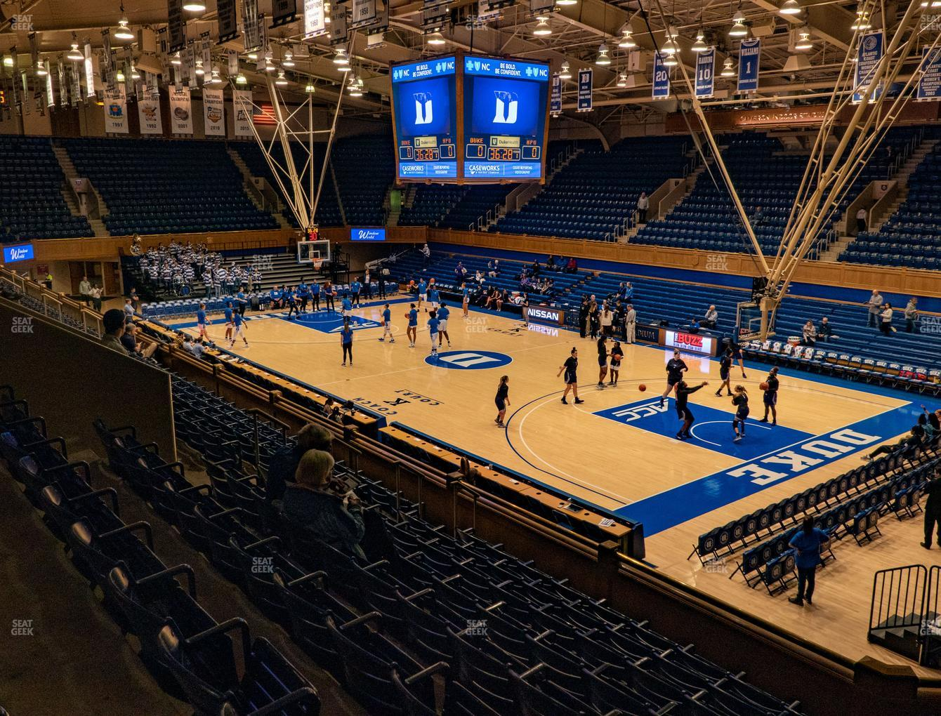 Duke Blue Devils Basketball at Cameron Indoor Stadium Section 16 View