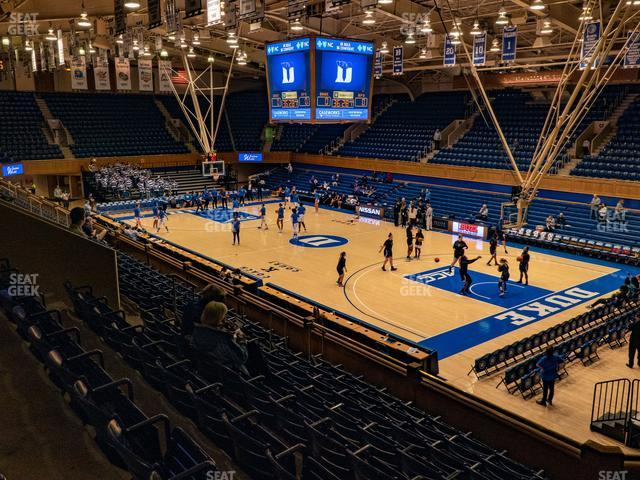 Cameron Indoor Stadium Section 16 view